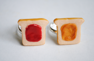 Peanut Butter and Strawberry Jam Rings by ClayRunway