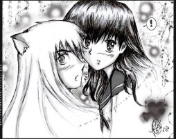 Inuyasha and Kagome:my valen.. by Rocioo