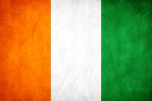 Cote D'ivoire Grunge Flag by think0
