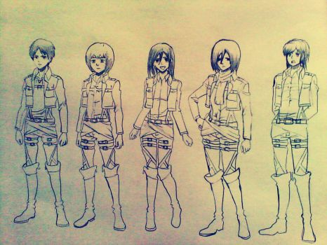 attack on titans by xinje