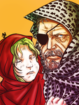 Saladin and Wolf by Prydonian-Poet