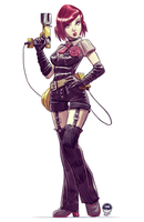 Goth Ghost Buster Girl - Slot Commish by EryckWebbGraphics
