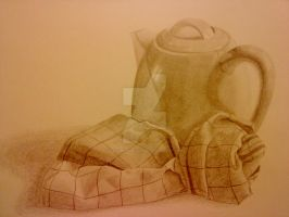 Still life - Kettle and towel by SailorRaybloomDZ
