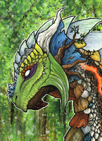 ACEO/ATC: Druid by Samantha-dragon