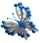 Shades of Blue Quilled Butterfly by SpiralArtisan