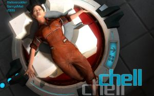 Chell Pinup 4 by thelonesoldier