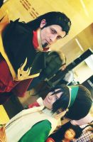 Toph and Ozai by TophWei