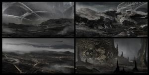 Sci-fi landscapes by Pumax001