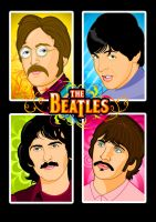 New Beatles Vector Art by TomTrager
