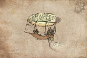 A little steampunk airship by Van-Oost