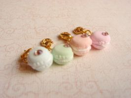 Miniature French Macaron Charm by MintberryCreations