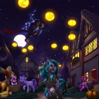 Commission: Nightmare Night by Eosphorite
