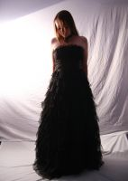 Black Gown 09 by Lynnwest-Stock