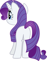 Rarity Back View by TheShadowStone