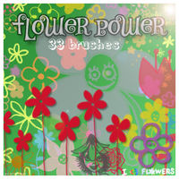 Flower Power brushes by stardixa