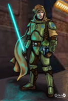 Mandalorian Jedi Guardian by JohnGWolf