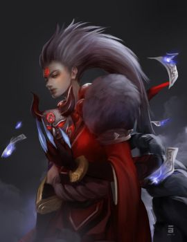 Blood Moon Diana by adelair