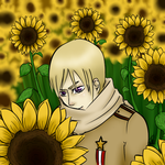 Russia in the sunflowers by PantslessRoxas