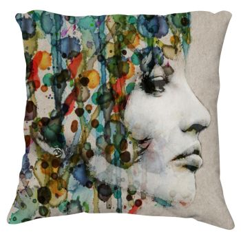 Covered in Colour Pillow by coppice