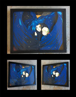 Howl's Moving Castle Wings Shadowbox by The-Paper-Pony