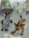 Shenzi's Battle by Katemare