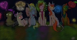 FireWorks With Friends- Happy Independence Day! by ScarletsFeed