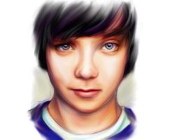 Asa Butterfield Portrait 002 by RuneWolfe