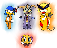 Kirby-based orikero's for Holly-chan~! by NaturisticLeafy