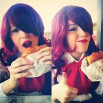 How To Eat A Burger by All-OutAttackCosplay