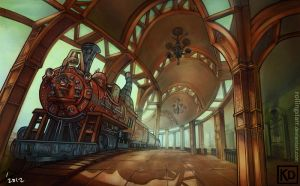 BGs: Train Station by rollingstarr