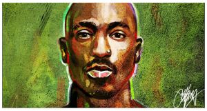 Tupac Hip Hop Painting by kyle-lambert