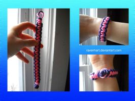 Pink Purple Paracord Bracelet by Ravenhart
