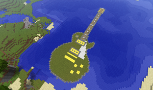 Minecraft Guitar Island by drphill2010
