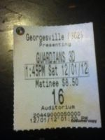Rise of the Guardians Movie ticket by ArtemisWolf8