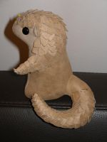 Plush - chibi Pangolin growing scales by demiveemon