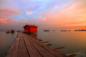 Sunset view of Tan Jetty by fighteden
