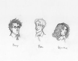 Harry Ron Hermione Redraw by ThroughMyThoughts