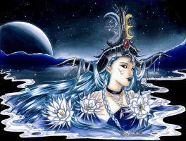 :Com: ~ Moon Goddess ~ by Linelana