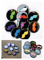 Staches of mustaches buttons by artshell
