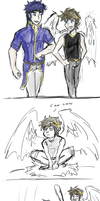 Adventures of Ike and Pit- Bros. by Prince-Marusu