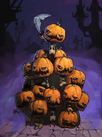 Crazy Pumkin Mob by awesomeplex