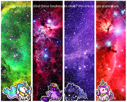 Princesses in space bookmarks by theluckyangel