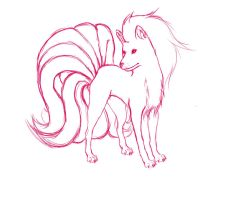 Rubis the Ninetails by RorysCurls