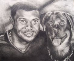 Black Man and his Dog by Clukyrat