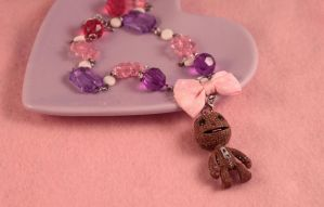 LBP Sackboy Necklace by PeppermintPuff