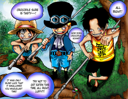 Luffy, Sabo and Ace by janashlley09