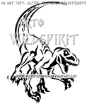 Attacking Velociraptor Tribal Design by WildSpiritWolf