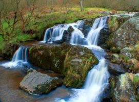 Pistyll Rhaeadr Waterfall - top falls by TazPoltorak
