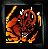 Darth Maul stained glass panno by hadydalaii