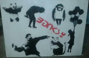 Poster based on Banksy by shelb123